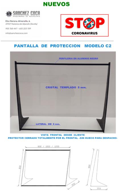 😷MAMPARAS protectoras CORONAVIRUS COVID19 modelo C2-80