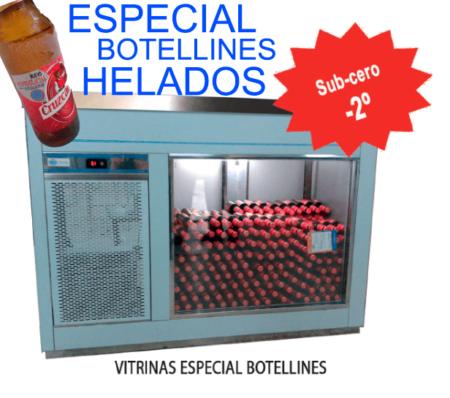 Vitrina ESPECIAL BOTELLINES HELADOS 2 metros