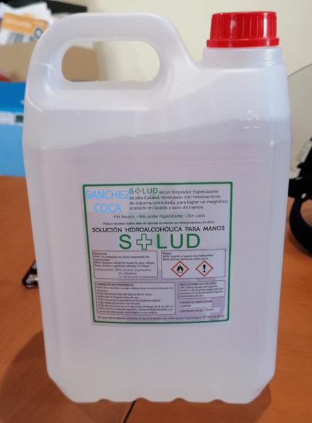 Gel limpiador hidroalcohólico higienizante de manos. Garrafa 5 litros.