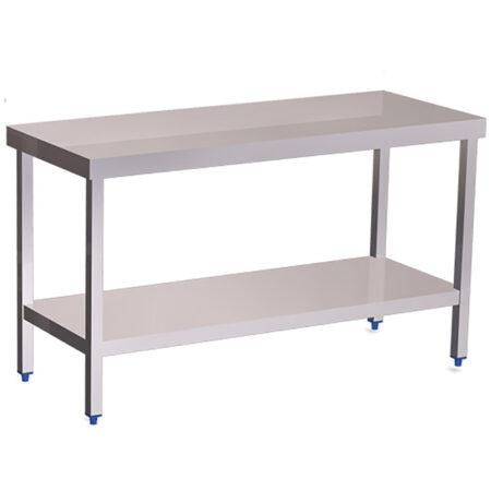 Mesas de acero con entrepaño